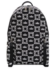 Dolce And Gabbana All Over Logo Backpack Black