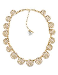Lonna And Lilly Cubic Zirconia Cotton Tassel Collar Necklace Gold