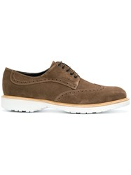 Salvatore Ferragamo Concorde Lace Up Sneakers Brown