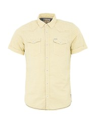 Garcia Mens Check Print Cotton Shirt Yellow