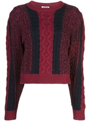Jason Wu Cable Knit Jumper Purple