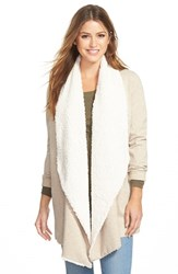 Women's Kensie Fleece Lined Drape Front Ponte Jacket