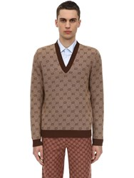 Gucci Gg Wool Jacquard V Neck Sweater Array 0X58dd168