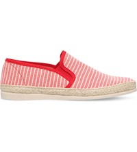 Kg By Kurt Geiger Lara Striped Espadrilles Red