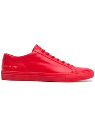 Common Projects Lace Up Sneakers Red