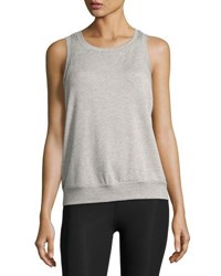 Beyond Yoga X Kate Spade New York Terry Bow Cutout Muscle Tank Light Gray