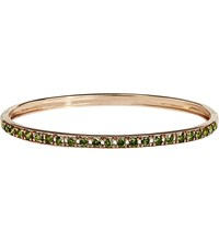 Annoushka Dusty Diamonds 18Ct Rose Gold And Diamond Line Bangle Green