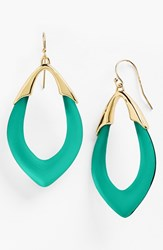 Women's Alexis Bittar 'Lucite Neo Bohemian' Open Drop Earrings Leaf Green