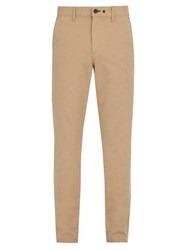 Rag And Bone Slim Fit Cotton Blend Chino Trousers Beige