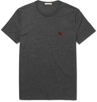 Burberry Slim Fit Cotton Jersey T Shirt Dark Gray