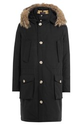 Woolrich Down Parka With Fur Trimmed Hood Black