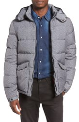 Scotch And Soda Men's Water Repellent Quilted Down Jacket Graphite Grey