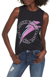 Mimi Chica David Bowie Graphic Muscle Tank Black