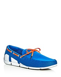 Swims Breeze Braided Lace Mesh Loafers Blue