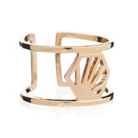 Rachel Jackson London Hexagon Adjustable Ring Gold