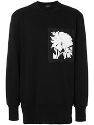 Ann Demeulemeester Oversize Embroidered Patch Sweatshirt Black