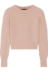 The Elder Statesman Cropped Cashmere Sweater Beige