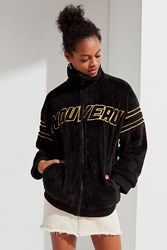 Urban Outfitters Uo Nouveau Teddy Track Jacket Black