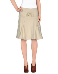Amy Gee Knee Length Skirts Ivory