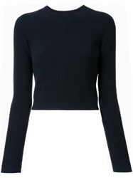 Christophe Lemaire Fitted Rib Jumper Blue