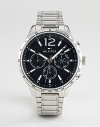 Tommy Hilfiger 1791469 Chronograph Bracelet Watch In Silver 46Mm