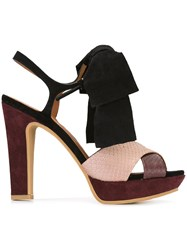 See By Chloe Bow Detail Sandals Pink Purple