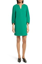 Tibi Women's Stretch Crepe Shift Dress Midori Green