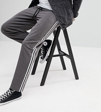 Reclaimed Vintage Inspired Relaxed Trouser With Side Tape Detail Grey