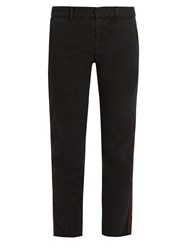 Nili Lotan East Hampton Slim Leg Cotton Blend Trousers Black