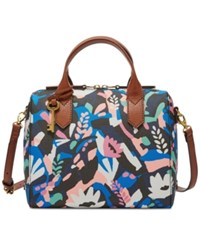 Fossil Fiona Printed Satchel Painted Floral