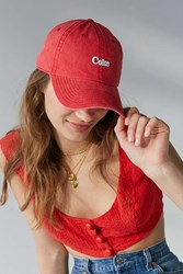 Urban Outfitters Coke Baseball Hat Red