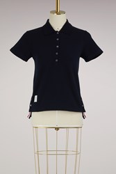 Thom Browne Polo With Back Stripe Navy