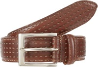 Harris Perforated Leather Belt Brown