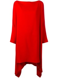 Gianluca Capannolo Draped Oversized Dress Red