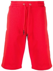Mcq By Alexander Mcqueen Contrast Logo Shorts Red