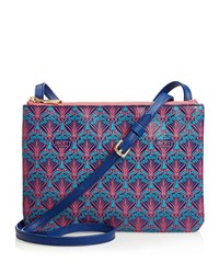 Liberty London Bayley Duo Pouch Crossbody Bag Navy