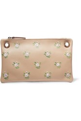 The Row Party Time 7 Painted Leather Shoulder Bag Beige