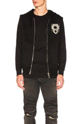 Balmain Sleeveless Embroidered Hoodie In Black