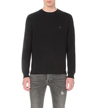 Allsaints Wilde Cotton Jersey Sweatshirt Jet Black