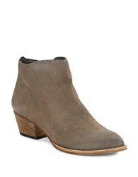 Dolce Vita Slade Pointed Toe Suede Booties Charcoal Grey