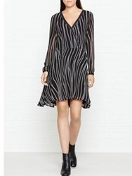 Karl Lagerfeld Zipper Print Dress Black