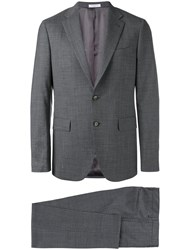 Boglioli Classic Two Piece Suit Men Cupro Virgin Wool 48 Grey