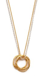 Maya Magal Stand Pendant Necklace Gold Silver