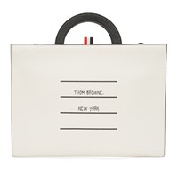 Thom Browne White And Black Flat Folio Pouch