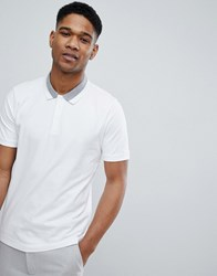 Selected Homme Polo Shirt With Tipping Bright White
