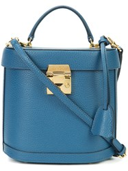 Mark Cross Benchley Bag Women Leather One Size Blue
