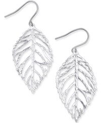 Giani Bernini Leaf Inspired Drop Earrings In Sterling Silver Only At Macy's