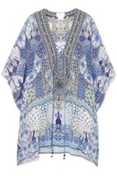 Camilla Wings To Fly Silk Crepe De Chine Kaftan Blue Gbp