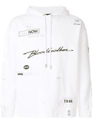 Blood Brother Yours Embroidered Hoodie White