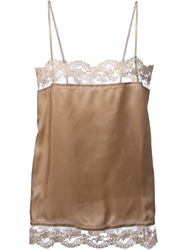 Erika Cavallini Semi Couture Lingerie Style Blouse Nude And Neutrals